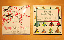 FLYING WISH PAPER - Two Mini Wishing Kits (Cherry Blossoms & Xmas Trees) - NEW!