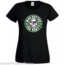 MAD CAPPELLAIO Tea Party Alice nel paese delle meraviglie T-Shirt Nero Medio