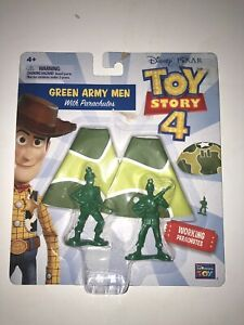 DISNEY PIXAR Toy Story 4 Movie Green Army Men With Working Parachutes New