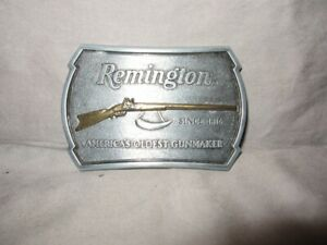 "Remington Arms 1816 Flintlock Rifle Belt Buckle Ltd Ed  3 1/4"" Length f/s"