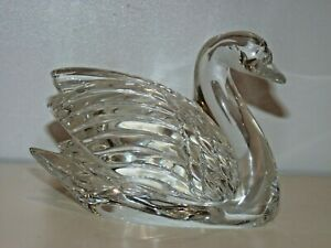 Vintage Waterford Crystal Swan Figurine Paperweight Signed,