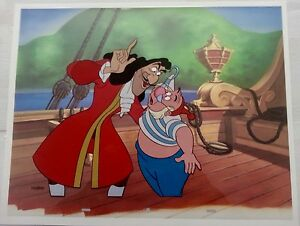 disney cel peter pan captain hook & smee villains portfolio rare animation cell
