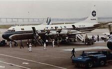 PRINT of Varig Electra II at Santos Dumont Airport, Rio de Janeiro - 1988