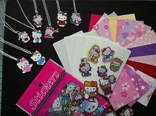 Cool Cardz Refill 50+INSERTS+ 100 HELLO  KITTY Stickers & SILVER PLATED PENDANT