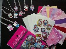 Cool Cardz Recarga 50 + Accesorios + 100 Hello Kitty Stickers & Plateado Plata Colgante