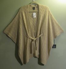 NWT $450 BLACK Saks Fifth Avenue 100% Cashmere Camel Sweater XS/S