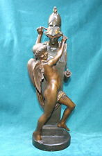 Feliz Sanzel French 19 Century Bronze Staue Of Blind Magnificent