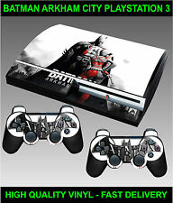 Play station 3 Console Sticker Skin Bat Man Ark ham skin & 2 X Controller Skins