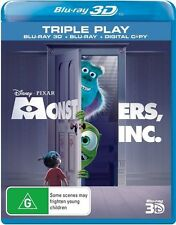 Monsters, Inc. (Blu-ray, 2013, 3-Disc Set)