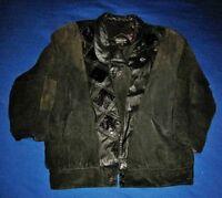 PELLE (New York, Milano) Suede & Leather Jacket, Women's Size Medium, Black
