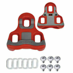 New Wellgo RC-7B RC-7 RC7 Road Pedal Cleat Look KEO compatible Float 6° Red