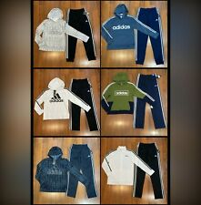 adidas Youth Boy's Track Set Tracksuit Hoodie Pants Size 10/12, 14/16 New