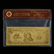 WR Chief Indian 1899 $5 Silver Certificate Bank Note Gold Paper Money Bill Craft
