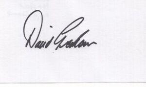 David Graham - PGA Golf Champion - Autographed 3x5 Card