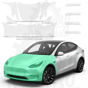Paint Protection Film Clear Bra PPF Pre-Cut Decal kit for Tesla Model Y Full kit