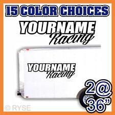 Team Your Name Racing Number Trailer Decal Sticker Mx Atv Bike Race Stock Car