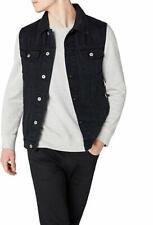 Men's Denim Waistcoats Jeans Slim Fit Jacket Sleeveless Cowboy Retro Biker Vest
