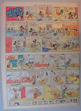 Mickey Mouse Sunday Page by Walt Disney from 9/29/1940 Tabloid Page Size