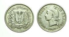 pcc1588_55) REPUBLICA DOMINICANA - MEDIO PESO - 1947 - PLATA