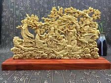 Fine Chinese Boxwood handwork carving Eight Immortals figure statue
