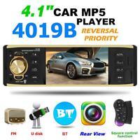 1Din 4,1 Zoll Bluetooth Stereo Autoradio HD MP5 MP3-Player AUX TF USB FM DE ❀