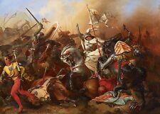 Joan of Arc In Battle August Gustav Lasinsky 1852 7x5 Inch Print