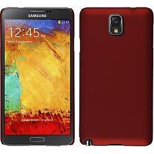 Custodia Rigida Samsung Galaxy Note 3 - gommata rosso + pellicola protettiva