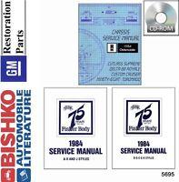 1984 Oldsmobile Cutlass Toronado Shop Service Repair Manual CD Engine Drivetrain