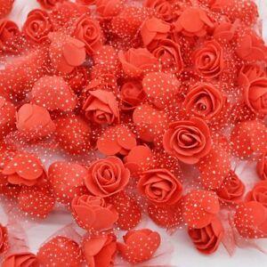 Mini PE Foam Rose Heads Artificial Silk Flowers For Home Garden Wedding Decor