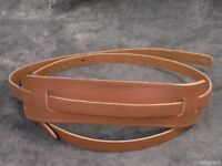 Rickenbacker Leather Blonde Guitar or Bass Strap Vintage Style Tan Authentic Ric