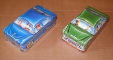 2 CARS  VINTAGE TIN BOX