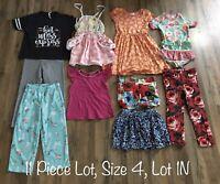 Girls Clothing Lot, 11 Items, Size 4, Matilda Jane Bikini, Gap, Janie & Jack