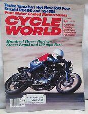 Cycle World Magazine July 1980 Yamaha 650 Suzuki PE400 GS450S Harley Davidson