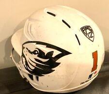 Game Used OSU Beavers Baseball Softball Helmet 2020 Season Number 1 White PAC 12