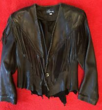 Gorgeous Vintage Fringed Deer Skin Jacket Coat Size Small Made In USA Rousseaux