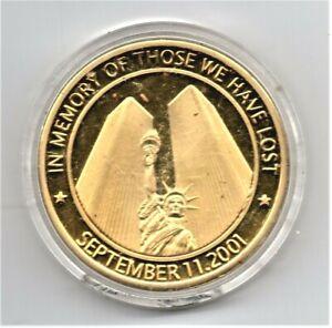 """September 11, 2001 American Heroes """"In Memory Of Those We Have Lost"""" 40mm Medal"""