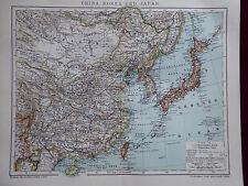Landkarte von China, Korea und Japan, Brockhaus 1902
