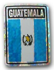 Wholesale Lot 12 Guatemala Country Flag Reflective Decal Bumper Sticker