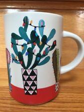 STARBUCKS 2017 CHRISTMAS DESERT CACTUS 12 OZ COFFEE TEA MUG CUP