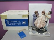 """Norman Rockwell """"The First Haircut"""" The American Family Original Box"""