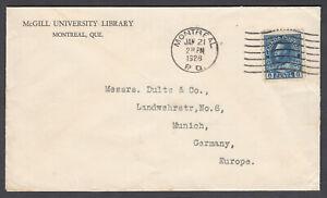 Canada Scott #115 Cover Jan 21, 1928 Montreal PQ  to Munich, Germany **