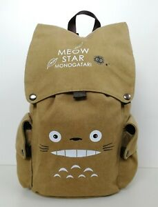 Ghibli Totoro Canvas Bag High Quality Rucksack Traveling Anime School Backpack