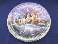 Disposable Paper Dinner Plates Dinosaurs Pack of 24 - 9.2 inch Diameter.