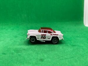 """1 AUTO WORLD """"MR. POSTMAN"""" '55 CHEVY BEL AIR, WHITE/RED ROUTE 66, NEW UNUSED"""