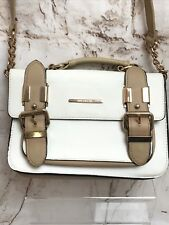 Ladies River Island Beige Cream Hand Bag Shoulder Strap Grab Handle Satchel
