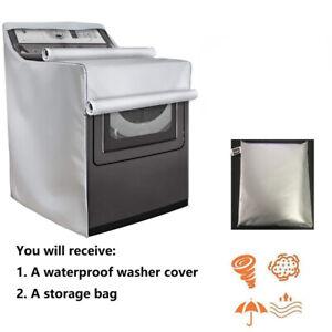 "Washing Machine Protect Cover Laundry Dryer Dustproof Waterproof Sunscreen 40""H"