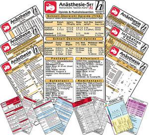 Anästhesie Karten-Set -XL- ( 11 Karten-Set )