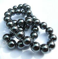 Hematite Round Beads Semi Precious Gemstone Black Beads Jewellery Making RSPCA