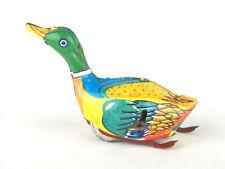 Inakita (Japan) Tinplate Clockwork/Wind-Up Swimming Mallard Duck