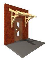 Haustürvordach verzapft Haustürüberdachung Tür Dach KVH Haus Garten Heimwerken